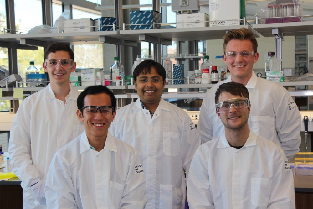 Dey Lab: Rob Jones, Siddarth Dey, Alex Chialastri, and Chad Wangsanuwat, with BMSE rotation student Sam Wilson.