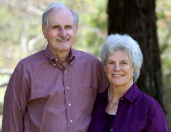 Professor Emeritus Duncan Mellichamp and his wife, Suzanne